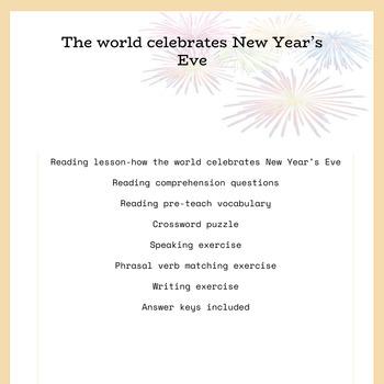 New Year's Eve celebrations around the world