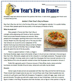 New Year's Eve in France: Reading, Substitute Plan & Activities for French Class