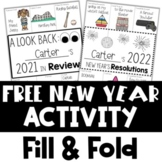 New Year's Activities 2021   Fill and Fold   A Look Back &