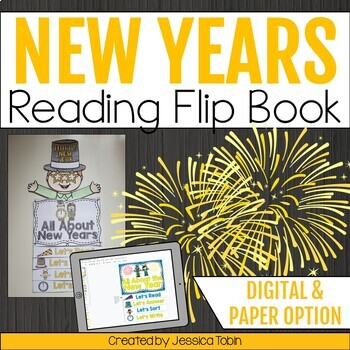New Years 2018 Activities Flip Book- New Years Resolutions and Reading