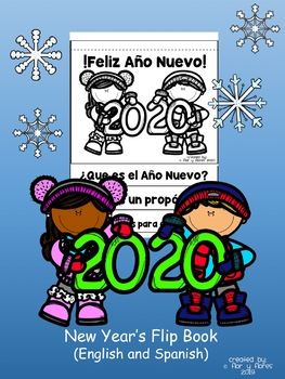 New Year's Flip Book (English and Spanish Versions)