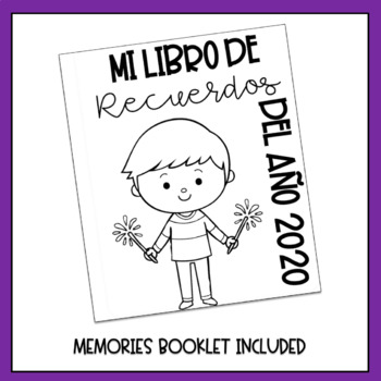 New Year's Flipbook in Spanish - Año Nuevo