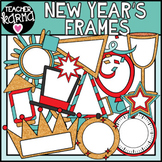New Year's Frames Clipart, Holiday Borders