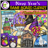 New Year's Game Boards Clipart