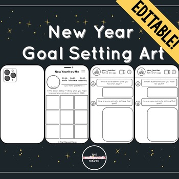 New Year's Goal Setting Art Project | 2020