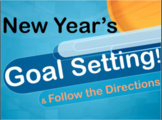 New Year's 2020 Goal Setting & Follow the Directions Activ