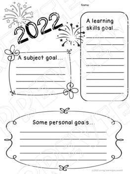New Year's Goal Setting - Primary