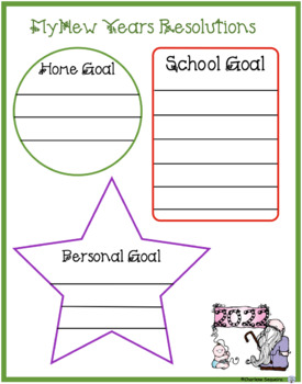 New year 39 s goal setting templates 2018 by diamond mom tpt for New years goals template