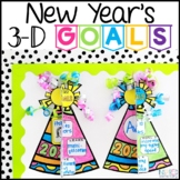 New Years 2021 Goals Hats 3D Writing Activity