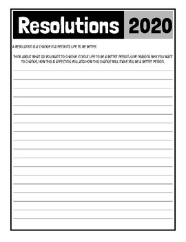 New Year's Goals & Resolutions-Bilingual Activities-Yearly Update