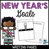 New Year's Goals Writing Pages