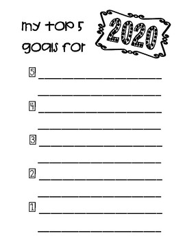 New Year's Goals for 2018