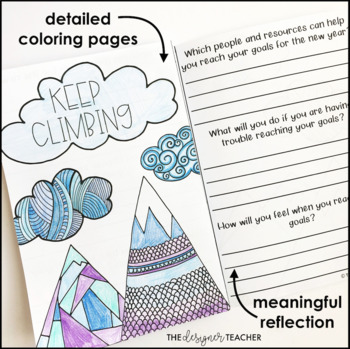 New Year's Growth Mindset Reflection Journal | New Year's Activity