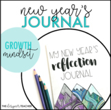 New Year's Growth Mindset Reflection Journal | New Year's Writing Activity