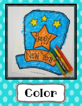 New Year's Hat Craft, January Crafts, Winter Crafts