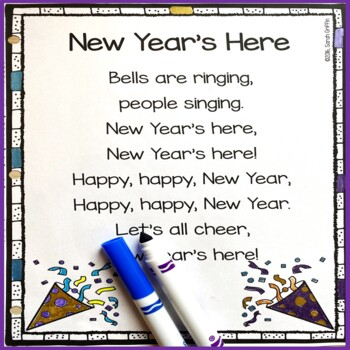 New Year S Here Poem For Kids By Sarah Griffin Tpt