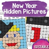 New Year's Hidden Picture Puzzles | January 1 Mystery Pictures