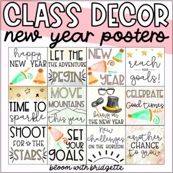New Year's Holiday Posters