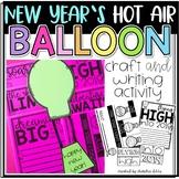 New Year's Hot Air Balloon Craft and Writing