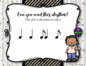 New Year's Interactive Rhythm Practice Game - Syncopa