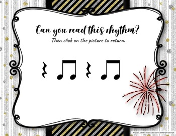 New Year's Interactive Rhythm Practice Game - Ta Rest
