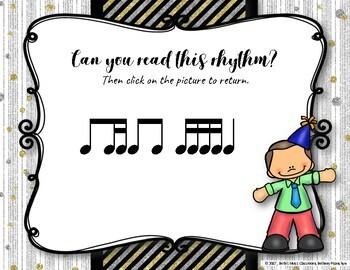 New Year's Interactive Rhythm Practice Game - Ti-tika/ti-tiri