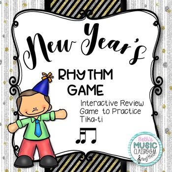 New Year's Interactive Rhythm Practice Game - Tika-ti/tiri-ti
