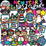 New Year's Kids 2 Clipart {New Years Clipart}