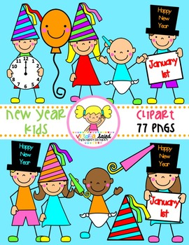 New Year's Kids Clipart
