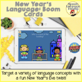 New Year's Language: Boom Cards for Distance Learning