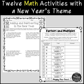 New Year's Literacy and Math Activities {For Upper Elementary}
