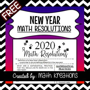 New Year's MATH RESOLUTIONS