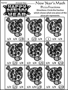 New Year's Worksheets Activities: New Year's Math Activity Packet