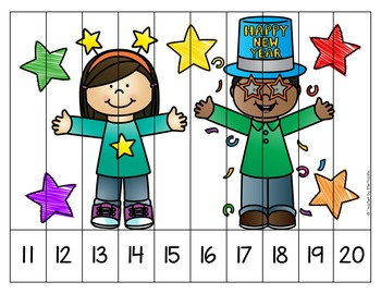 New Year's Math - Counting Puzzles