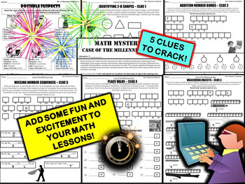 New Year's Activity Math Mystery