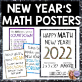 New Year's Math Posters for Middle School or High School