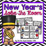 New Year's Math Solve the Room (or Scoot!)