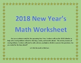 New Year's Math Story Problems - Using the Calendar of 2018