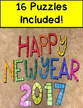 New Year's 2017 Multiplication Puzzles