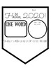 One Word Banner Pennant / Back to School / New Years Activity