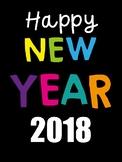 New Year's Packet 2018 - NO PREP!
