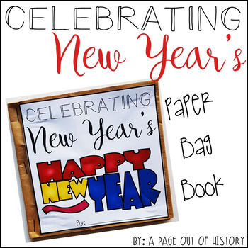 New Year's Paper Bag Book - Holiday Paper Bag Books