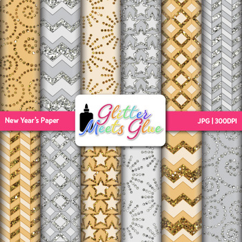 New Year's 2018 Paper   Scrapbook Backgrounds for NYE Resources