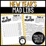 New Year's Parts of Speech Silly Stories Grammar Activity