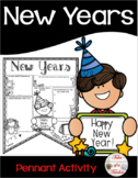 New Year's Pennant Activity