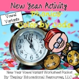 New Year's Phonics Color by Code Worksheet Packet