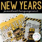 New Year's Preschool Language Unit