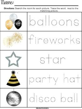 New Year's Preschool Packet
