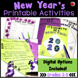 New Year's 2019 Printable Activities