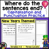 New Year's Writing, Punctuation & Capitalization; Where do the sentences end?